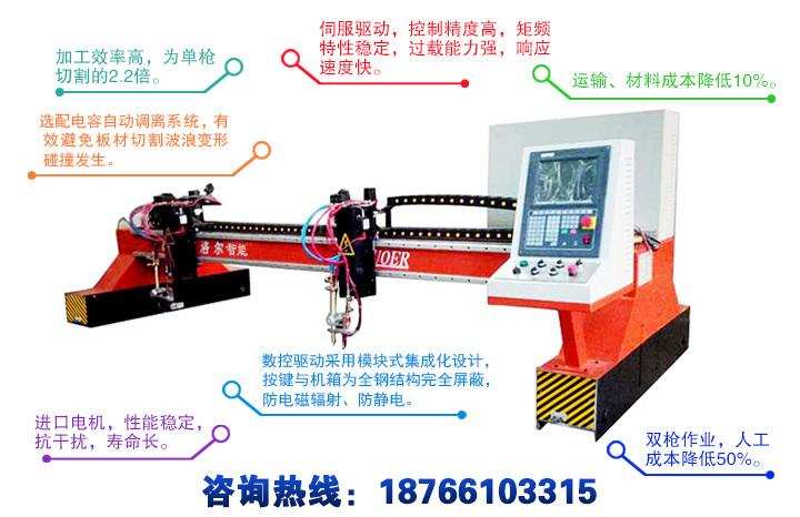 龙门式双火焰数控切割机产品特点