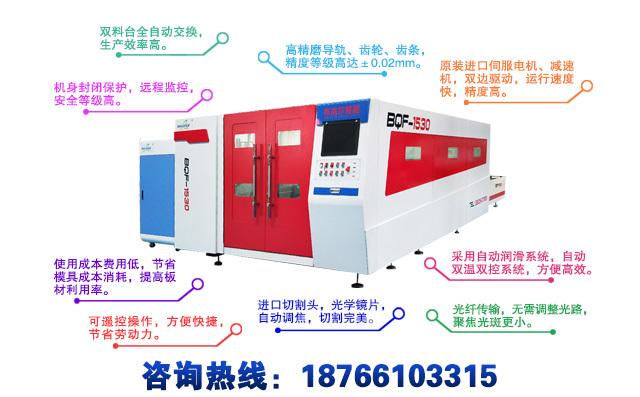 封闭式光纤激光切割机产品特点