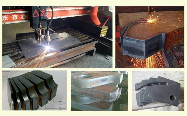 重型龙门火焰等离子数控切割机切割样件展示